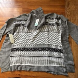 NWT!! RD Style Carter Turtleneck Pullover Poncho-S
